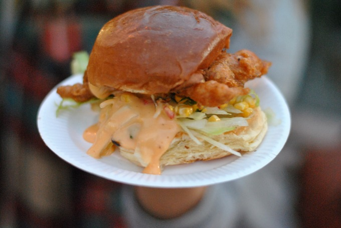 Soft Shell Crab Burger from The Crabbieshack // Amy Elizabeth