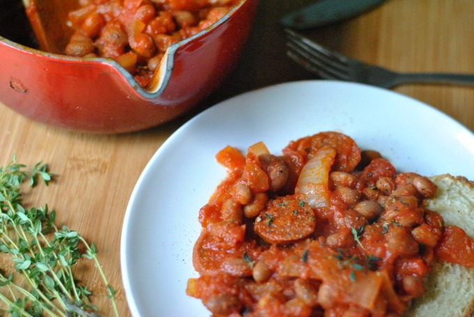 Chorizo & Borlotti Beans on Toast // Amy Elizabeth