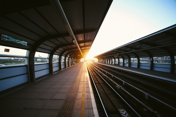 Platform at Sunset