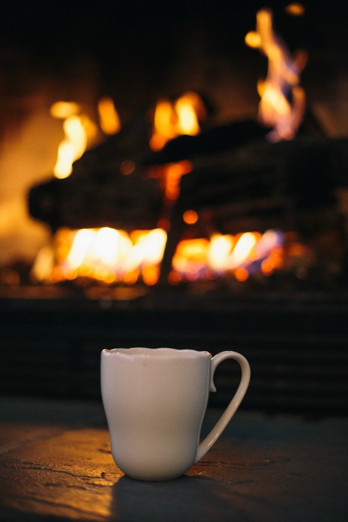 Mug in Front of Fire
