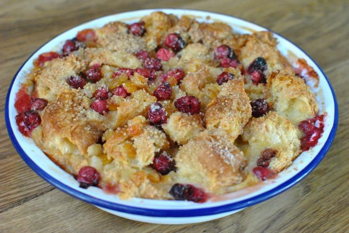 Croissant and Cranberry Pudding // Amy Elizabeth