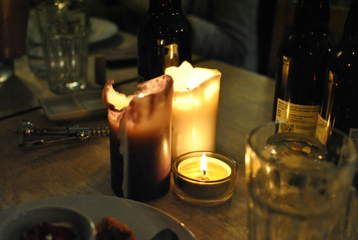 Candles at The Swine That Dines in Leeds