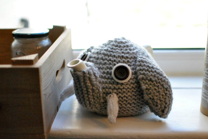 Knitted Elephant Tea Cosy at Baa Ram Ewe Leeds
