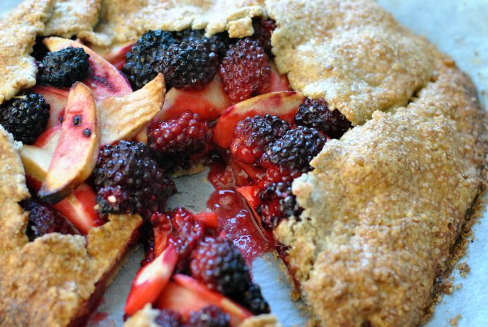Apple and Blackberry Galette
