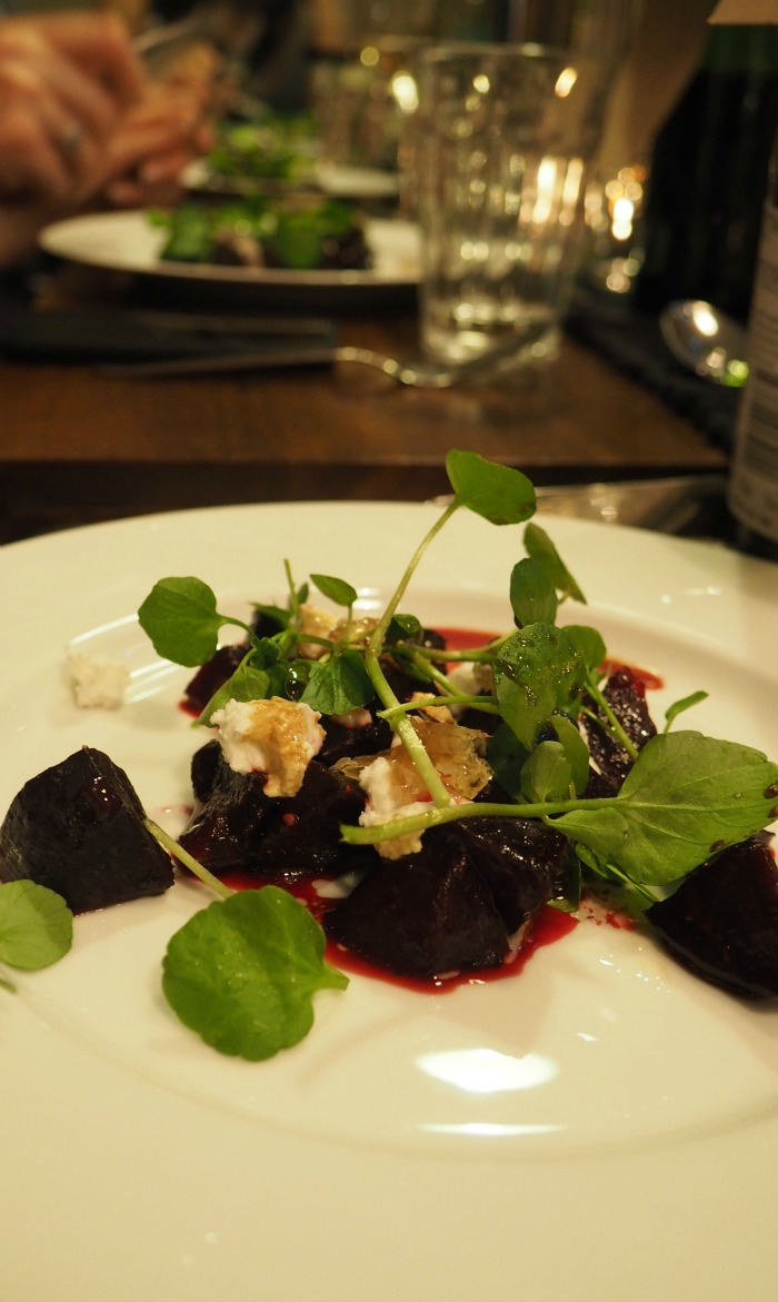 Beetroot, Goat's Curd and Honeycomb