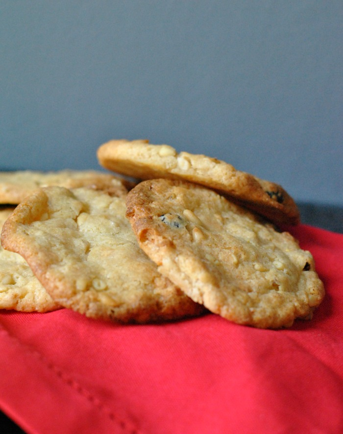 White Chocolate, Pine Nut and Cranberry Cookies