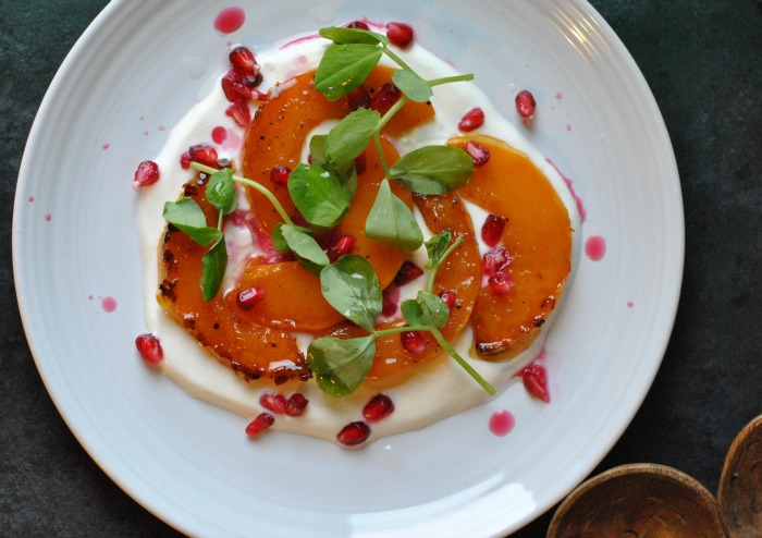 Maple Roasted Squash with Yoghurt and Pomegranate // Amy Elizabeth