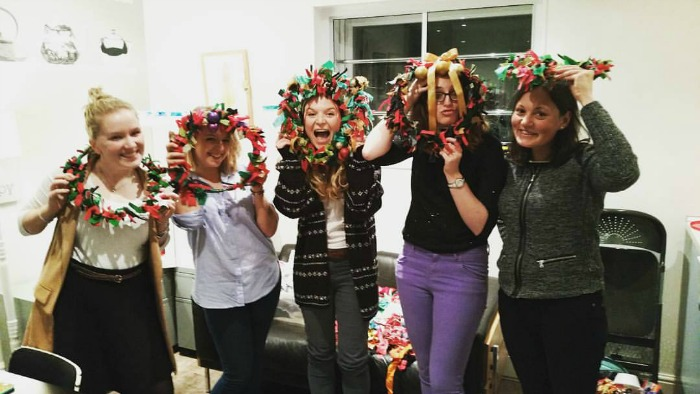 wreath workshop at chirpy