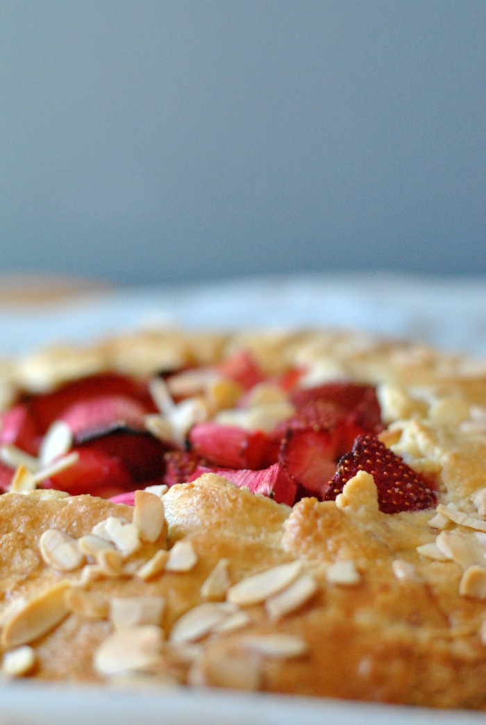 Rhubarb & Strawberry Almond Galette // Amy Elizabeth