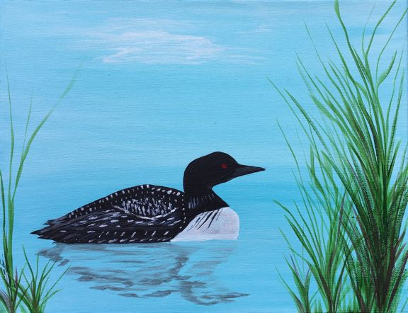 Painting Minnesota Loon.jpg
