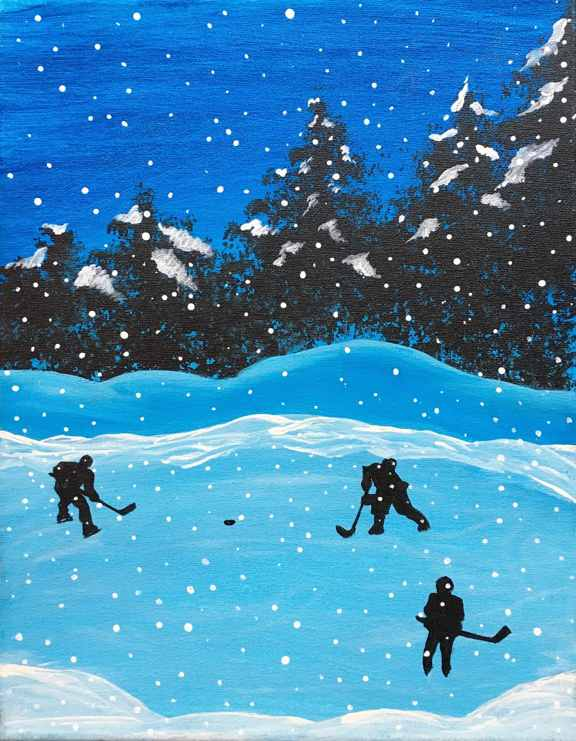 Winter Pond - Hockey