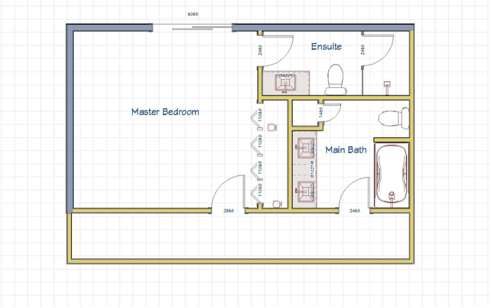BEFORE: Upstairs floor plan