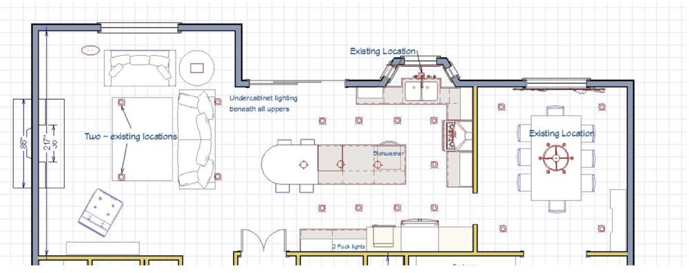 Main floor floor plan customized to the client's needs