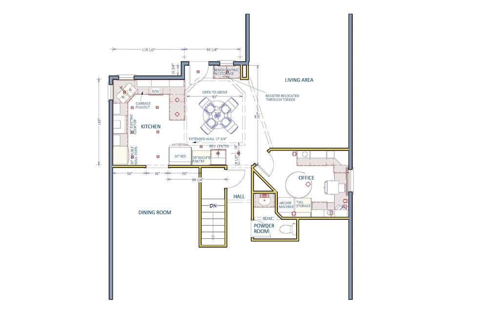 Proposed floor plan for a client.