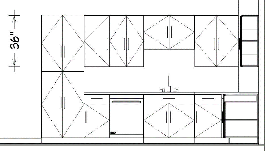Elevation Drawing - Kitchen Layout