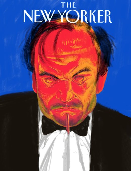Magazine cover. - Celebrity mockup-cover exploration with roughs and conceptual development.Valery Gergiev, Mariinsky theatre conductor (final): one of the wealthiest, most influential and popular Russian celebrities, who publicly supports President Putin. I based my metaphor on the fact that V.Gergiev has never supported Putin's politics, I tried to portray the tension that the artist must be going through, having to choose between being an important figure in Russian culture development and sticking to his own beliefs (which is currently impossible to do simultaneously in Russia).Vivienne Westwood, fashion designer:has been trying to reduce waste from the fashion industry and change people's perception of shopping by promoting a