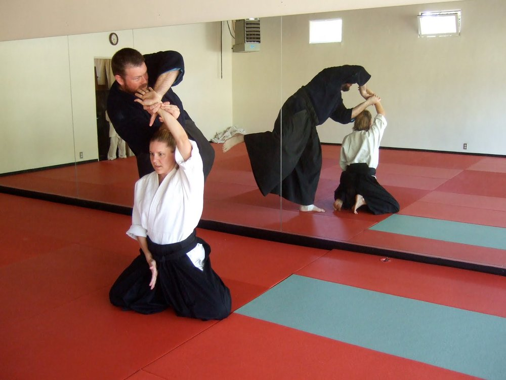Aikido  - I'm an aikidoka with the rank of shodan (first degree black belt). I've trained and taught at The Aikido Center and Living Aikido.