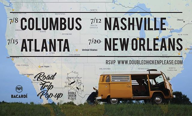 DCP Road Trip Pop-up season 2!! 7/8 Columbus - 7/12 Nashville - 7/15 Atlanta - 7/20 New Orleans.  Can't be more excited to see all your shiny faces!! Reservation link in bio.  #dcppopup