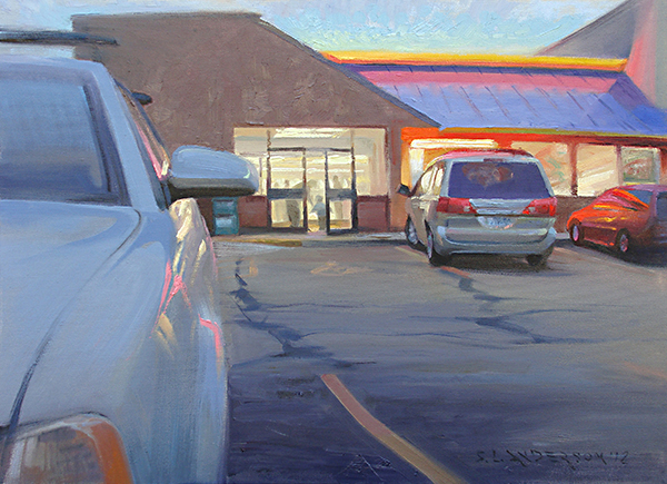 Suppertime , 16 x 12 oil on panel A ubiquitous American scene—and an exercise in color and light.