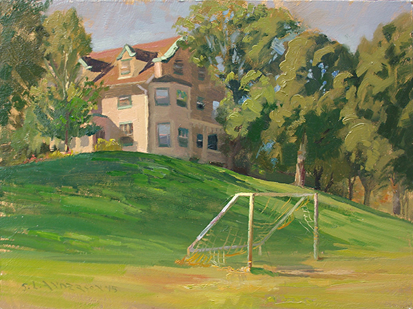 Lyndale Farmstead Park  ,  12 x 16 oil on panel