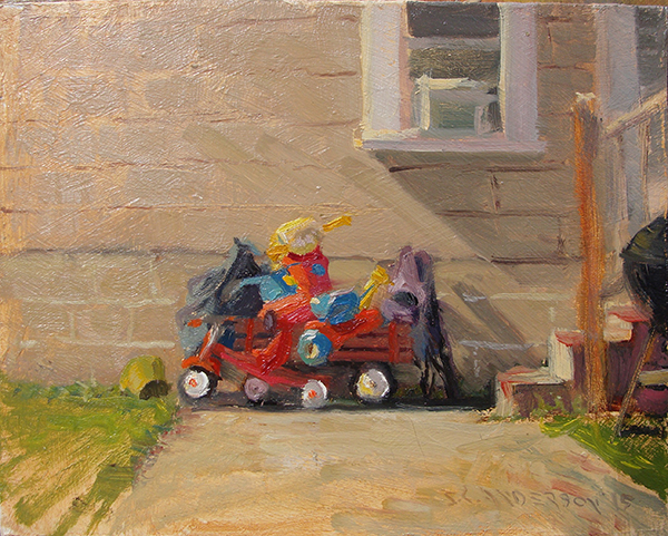 Pile Up,  8 x 10 oil on panel