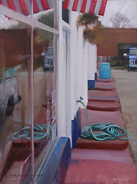 Service Station , 24 x 18 oil on panel