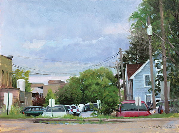 West Bank Lot , 18 x 24 oil on panel