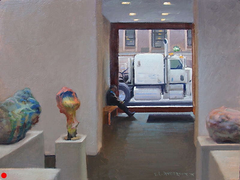 Chelsea Gallery , 18 x 24 oil on canvas board
