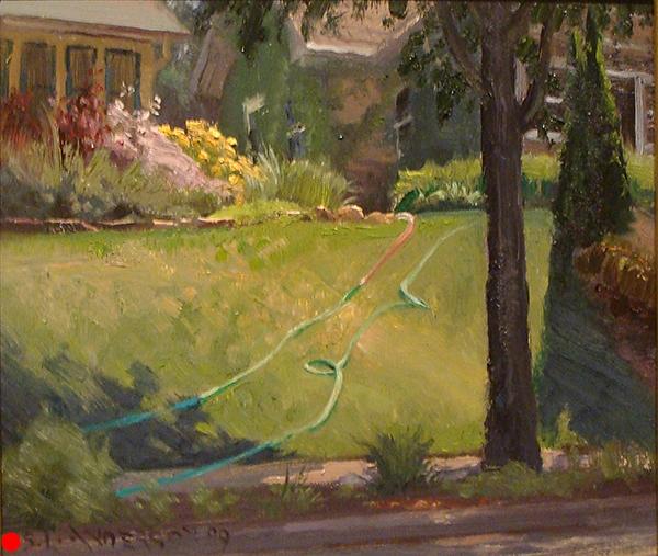 Minneapolis Summer , 8 x 10 oil on panel SOLD