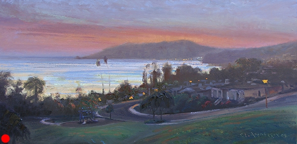 Avila Sunset , 15 x 30 oil on canvas SOLD
