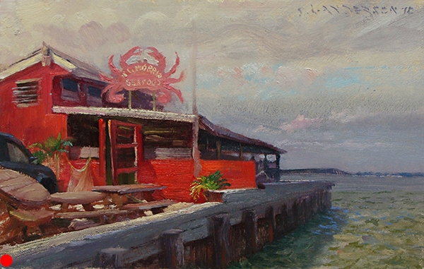 Crab Joint on the Choptank , 7 x 11 oil on panel SOLD