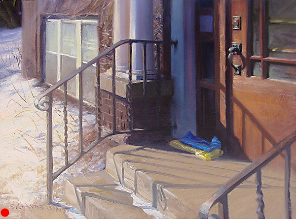 Morning Papers , 18 x 24 oil on panel Another everyday motif that begged for an study of line, color, and value. SOLD