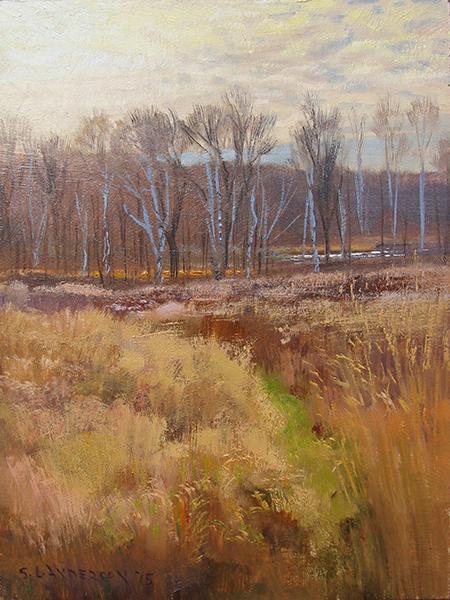 Autumn Bright,  12 x 16 oil on panel