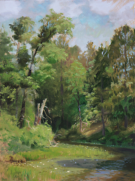 July River Greens , 16 x 12 oil on panel