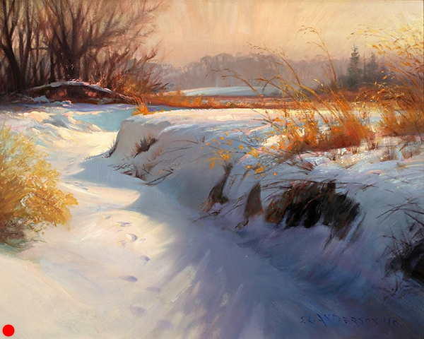 Winter Sun and Shadow,    24 x 30 oil on linen  SOLD