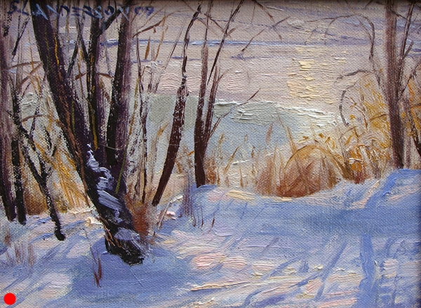 Bright Winter Shore,  8 x 10 oil on panel  SOLD