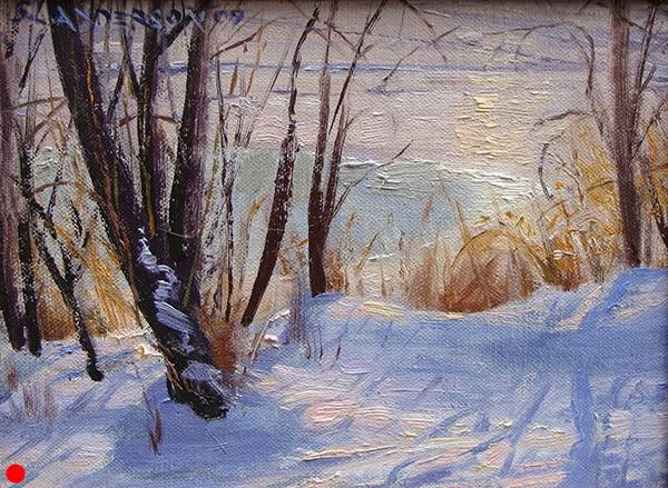 Bright Winter Shore,  8 x 10 oil on panel  SOLD