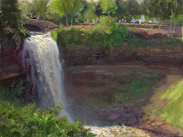 Summer, Minnehaha Falls 2,   12 x 16 oil on panel