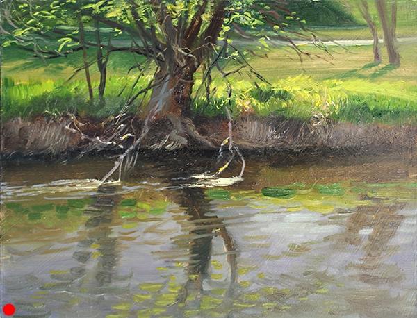 Spring on Minnehaha Creek,   8 x 10 oil on panel SOLD