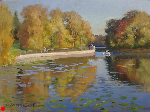 Lake of the Isles Autumn,    12 x 16 oil on panel SOLD