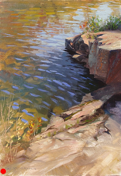 North Shore Rocks and Water,   36 x 24 oil on panel SOLD