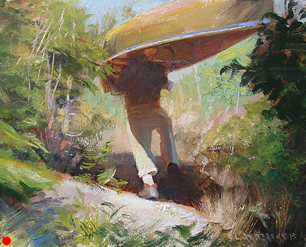 Portaging,    10 x 8 oil on panel SOLD