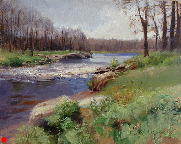 Sunny Stream, 8 x 10 oil panel SOLD