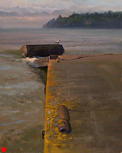Hovland Dock , 16 x 20 oil on panel SOLD