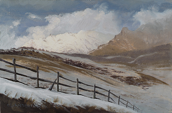 Colorado Mountain Winter , 10.5 x 16 oil on panel