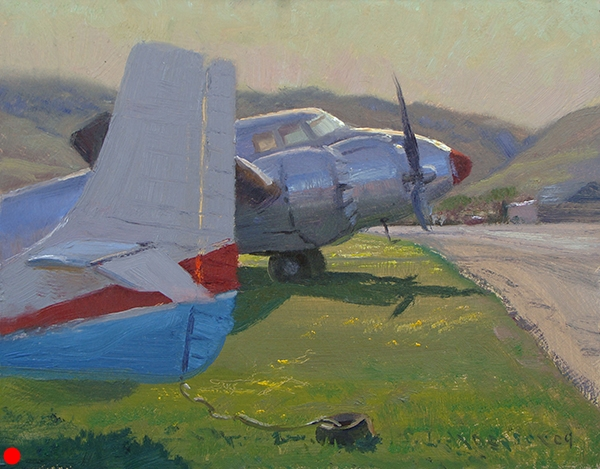 Grand Old Birds, Sonoma,  8 x 10  oil on panel