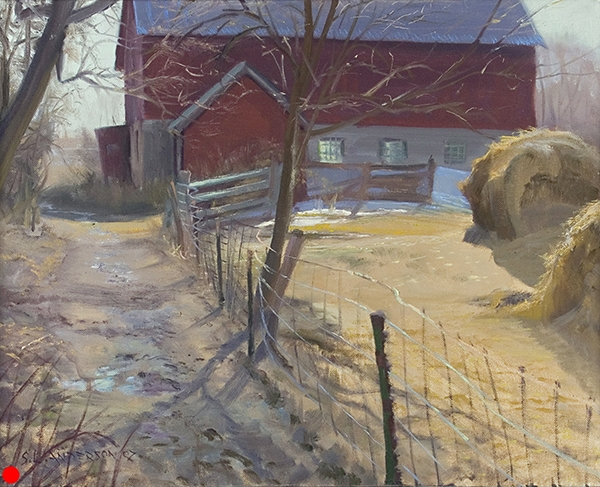 The Path to the Barn , 16 x 20 oil on canvas SOLD