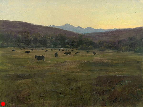 Cow Pasture, Utah , 11 x 14 oil on panel SOLD