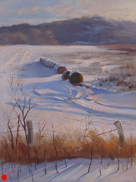 New Market Haybales,  12 x 16  oil on panel SOLD