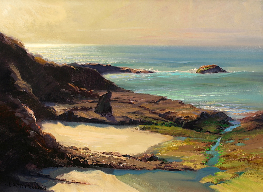 Low Tide at Goss Island, Laguna  22 x 30 oil on linen